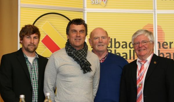 Andreas Beck, Peter Brosi, Günther Wienhold und Horst Zölle