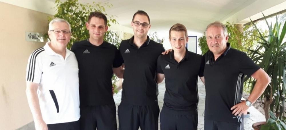 von li.: Hellmut Geyer, Raphael Foltyn, Tobias Bartschat, Jonas Brombacher, Lutz Wagner