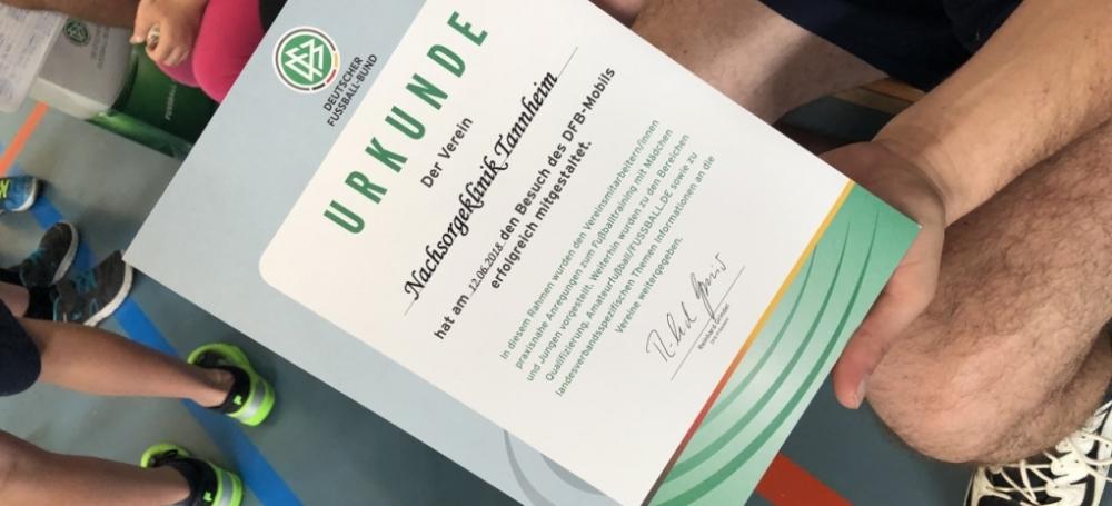 DFB-Mobil besucht Nachsorgeklinik in Tannheim