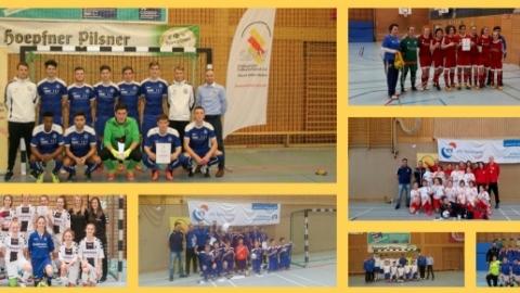 Fotocollage: SBFV-Futsalmeister der Junioren und -innen 2016/2017 (Bildquelle: Felix Gärtner).
