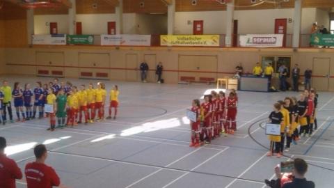Für das Landesfinale um den VR-Talentiade CUP qualifizierten sich die besten vier Mannschaften der D-Juniorinnen.