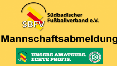 Mannschaftsabmeldung (FC Denzlingen) © Felix Gärtner