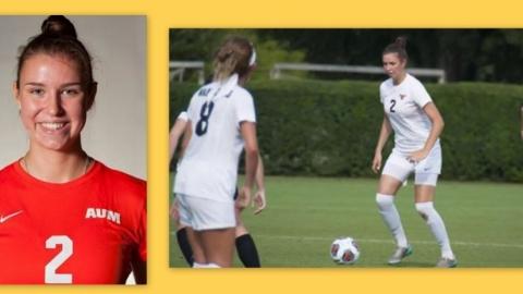 Marie Stöber studiert mit einem Fußballstipendium in den USA.