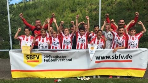 FC Tiengen 08 (Bezirk Hochrhein) ist SBFV-Meister der D-Junioren in der Saison 2016/2017